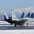 F-15J 201sqと夕張岳 (2)