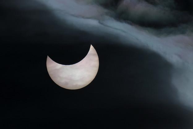 部分日食 2019年1月06日 千歳 (1)