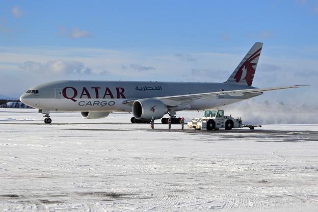 B777F Qatar Airways Cargo A7-BFF taxiing