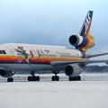 Photos: DC-10-30 JA8551 JAS Peterpan Flight CTS 1996.01