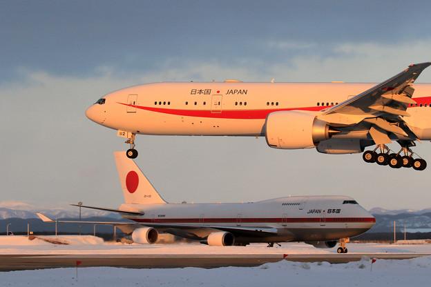 B777次期政府専用機とB747政府専用機