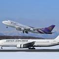 Photos: Boeing767 JALとBoeing747 THAI