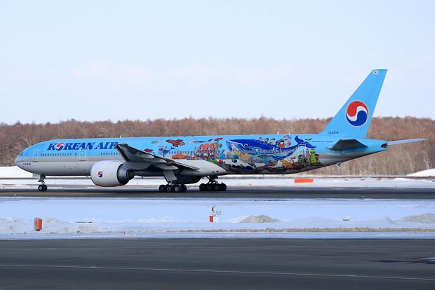Boeing777 KAL 2018子どもの絵塗装機 HL8274 (2)