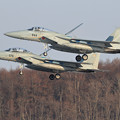 Photos: F-15 201sq formation landing