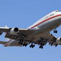 Photos: B747-400 政府専用機 RJCC19L approach (2)