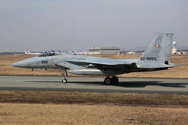 Photos: F-15 203sqと4機の政府専用機