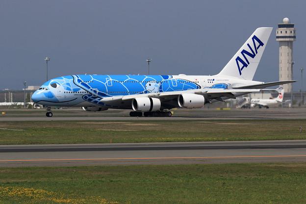 A380 ANA JA381Aが初飛来 (2)