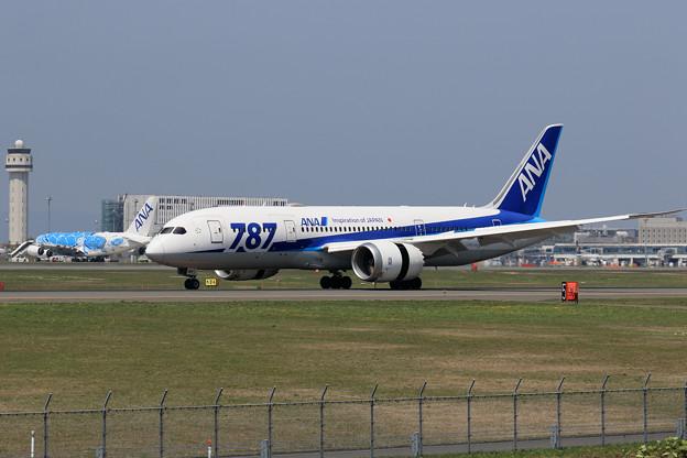 ANAのB787とA380