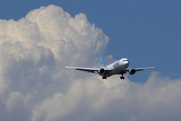 Boeing767 ADOと夏の雲???
