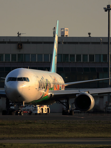 Boeing767 ADO JA602A Taxiing