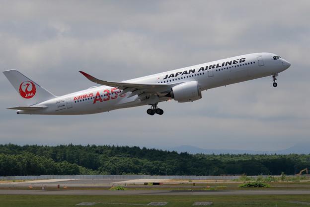 Photos: A350-900 JAL JA01XJ 慣熟飛行で飛来 (3)