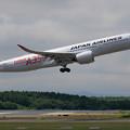 A350-900 JAL JA01XJ 慣熟飛行で飛来 (3)