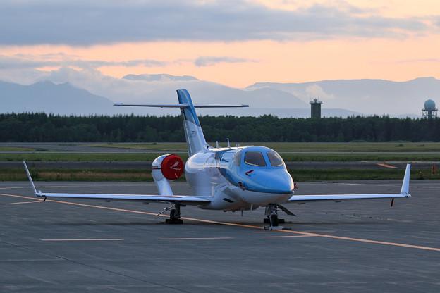 Honda Aircraft HA-420 Elite JA01JP 夕景stay