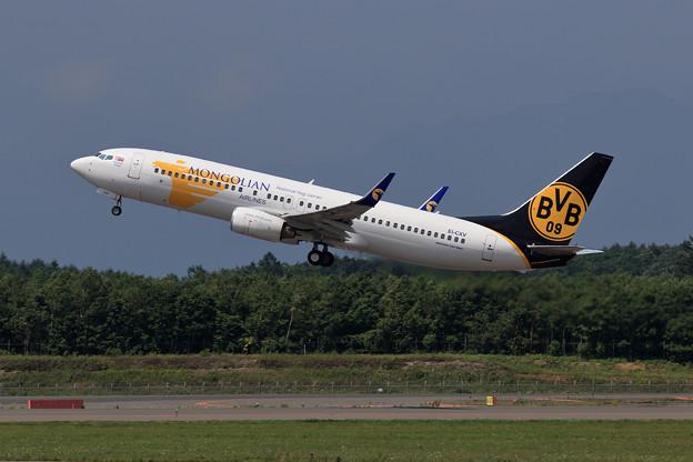 B737-800 Mongolian Airlines EI-CXV takeoff