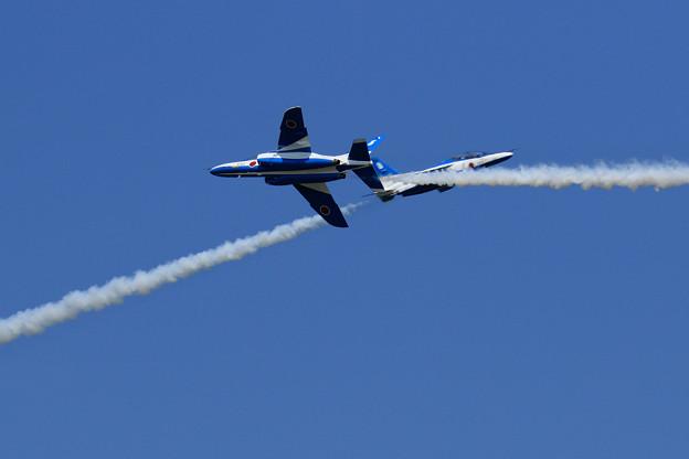 T-4 Blue Impulse 692/697 2機での展示飛行(8)