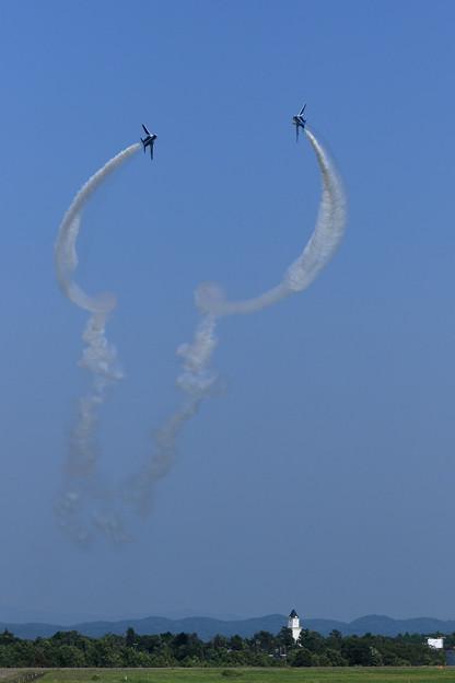 T-4 Blue Impulse 2機での展示飛行(10)