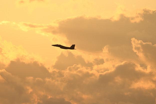 F-15DJ 夕焼け空にtakeoff