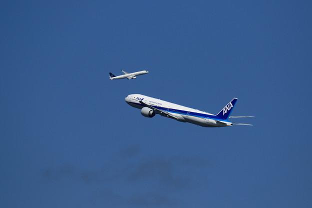 Photos: A321 EVAを追いかける 777 ANA
