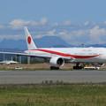 Boeing777 701sq 80-1112と夕張岳
