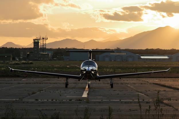 Photos: PilatusPC-12/47E OY-THP Support aircraft for SilverSpitfire(2)