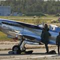 Photos: Silver Spitfire G-IRTY 飛来(4)