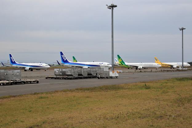 台風19号を避難して来た機体達(1)