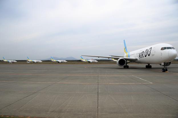 台風19号を避難して来た機体達(2)