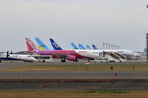 台風19号を避難して来た機体達(3)