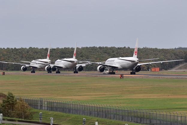 台風19号を避難して来た機体達(6)