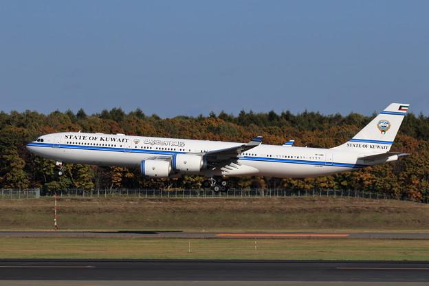 Photos: A340-500 9K-GBB State of Kuwait approach(2)