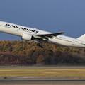 Photos: Boeing777 JA009D 朝日に輝く