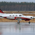 Piper PA46-500TP N8016W delivery flight