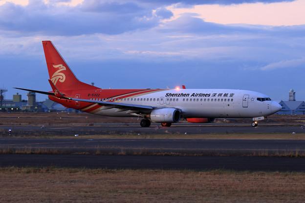 Photos: Boeing737 CSZ B-5322 陽は落ちて