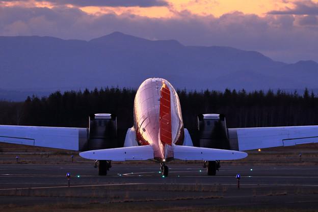 DC-3T/Basler BT-67 C-FBKB 到着(4)
