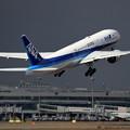Boeing777 ANA 北の空は黒雲