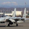 Photos: F-15J 872 203sqと白くなった芦別岳