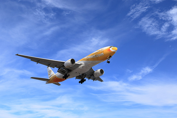 Boeing777 晴れた冬空