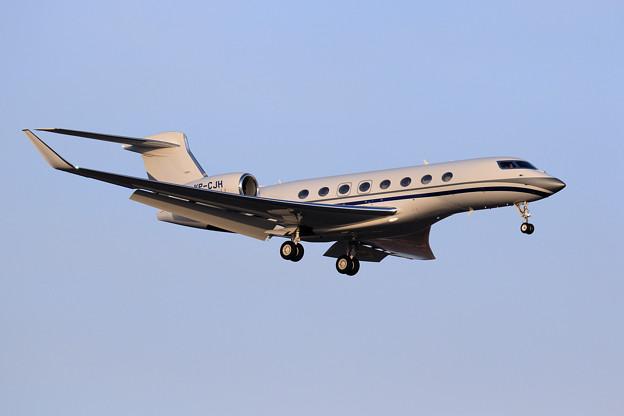 Gulfstream G650ER VP-CJH approach