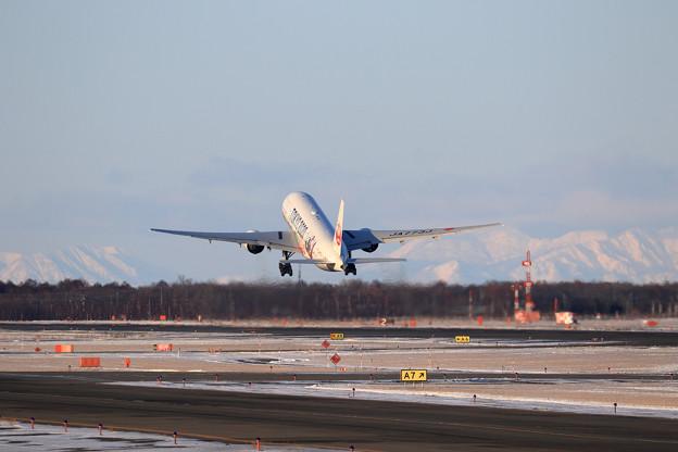 Boeing777 JAL 視程良好