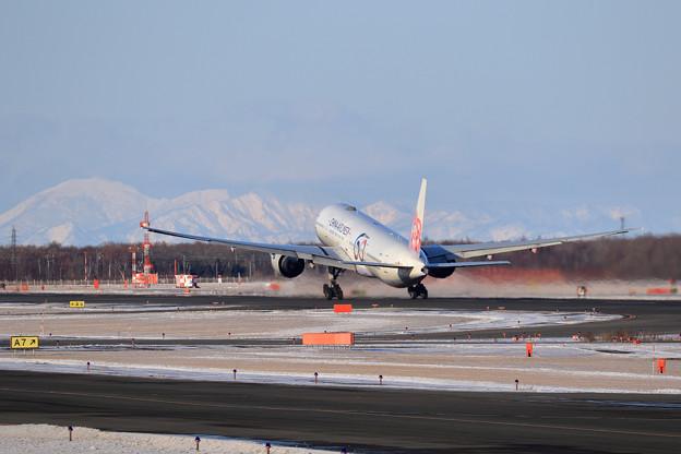 Boeing777 CAL 視程良好