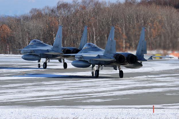 F-15 203sq 訓練へ (2)