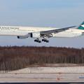Photos: Boeing777 CPA B-HNF approach
