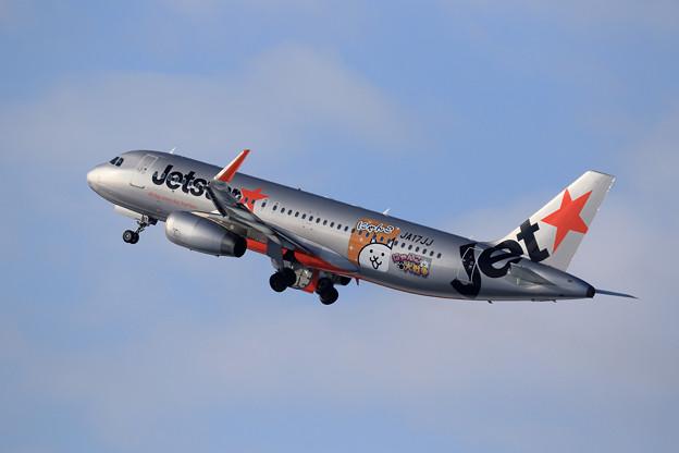 A320 Jetstar  にゃんこ大戦争ラッピング JA17JJ (2)