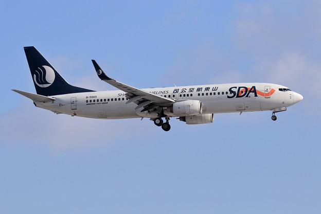Boeing737 山東航空 B-5560 approach