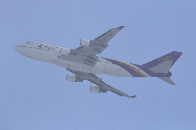Boeing747 THAI HS-TGG takeoff