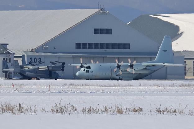 C-130R 9054 61FS JMSDF 飛来 (1)
