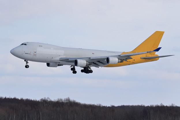 Boeing747F AtlasAir N416MC 飛来(1)