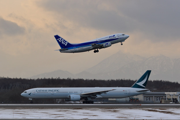 Boeing737 ANA+Boeing777 CPA