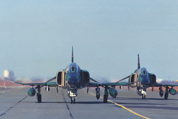 Photos: RF-4E CTS 501sq Taxiing 1992.10