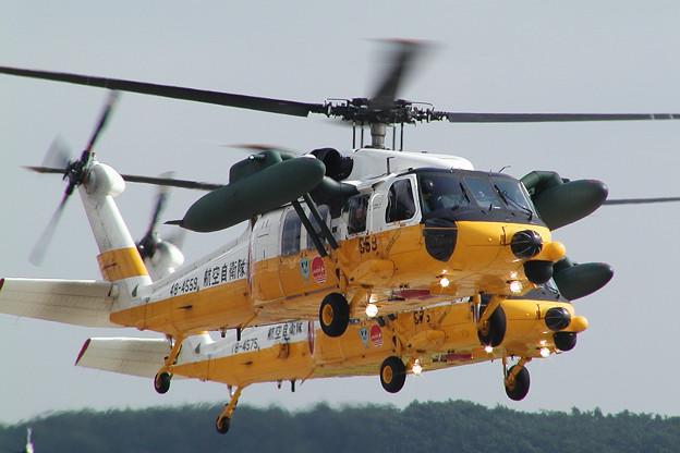 UH-60J 展示飛行 4559+4575 千歳救難隊 2004.08(1)